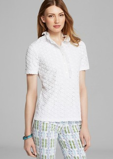 Tory Burch Lidia Lace Polo Shirt