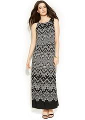 Alfani Printed Blouson Maxi Dress