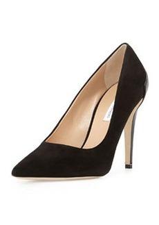 Diane von Furstenberg Betty Leather Combo Pointy-Toe Pump, Black