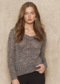 Cotton-Blend Scoopneck Sweater
