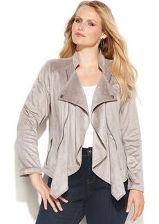 INC International Concepts Plus Size Long-Sleeve Drape-Front Jacket