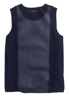 Collection cashmere leather-front shell