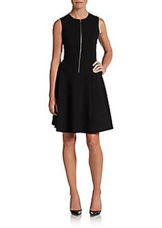 Calvin Klein Front Zip A-Line Dress