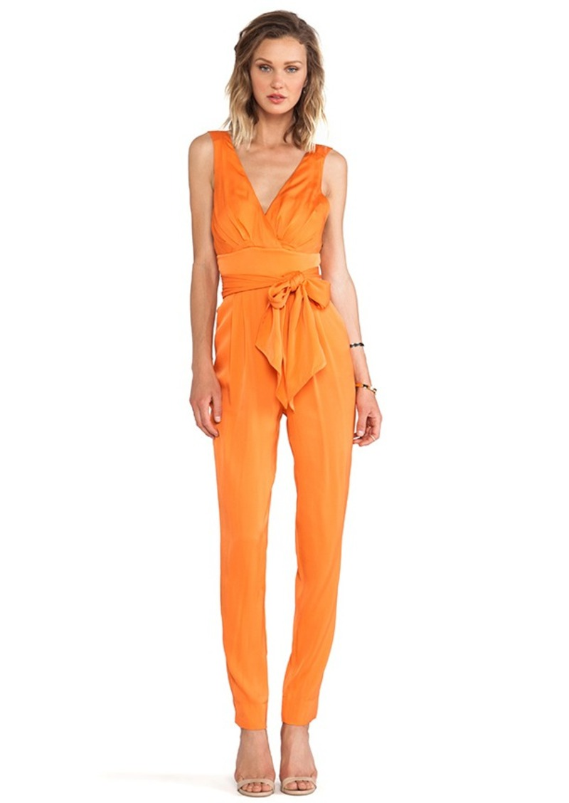 Catherine Malandrino Ema Jumpsuit in Orange