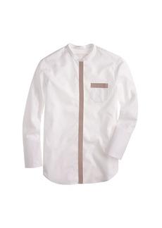 Thomas Mason® for J.Crew leather-trim tunic