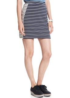 Tommy Hilfiger Colorblocked Striped Mini Skirt