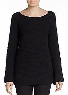 Donna Karan Cashmere-Blend Boucle Sweater
