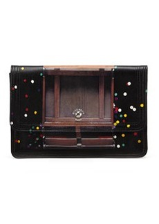 Podium Confetti-Print Clutch Bag   Podium Confetti-Print Clutch Bag