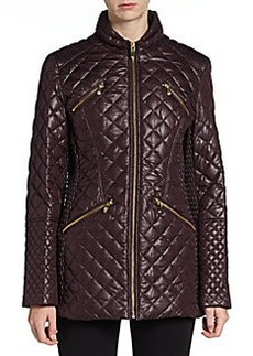 Via Spiga Quilted Zip Jacket