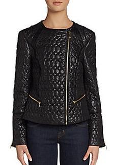 Via Spiga Quilted Zip-Front Jacket
