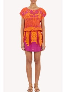 Twelfth Street by Cynthia Vincent Abstract-Print Drop-Waist Dress