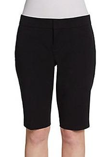 Saks Fifth Avenue BLACK Bermuda Dress Shorts
