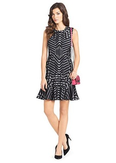 Carlie Printed Wool Dress
