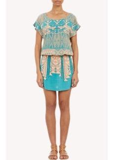 Twelfth Street by Cynthia Vincent Abstract-Print Drop-Waist Dress