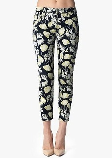 """The Cropped Skinny Contour in Black Floral Print (26"""" Inseam)"""