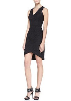 Cynthia Steffe Aviana Faux-Leather & Lace Dress