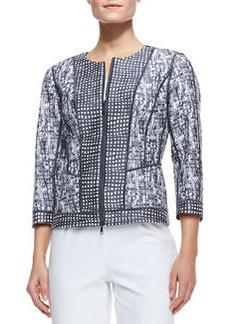 Lafayette 148 New York Geraldine 3/4-Sleeve Jacket