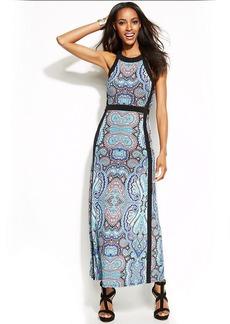 INC International Concepts Printed Maxi Halter Dress