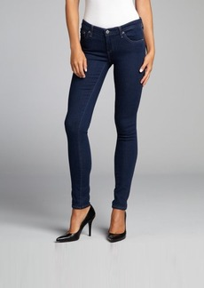 AG Adriano Goldschmied blue stretch denim 'The Legging' super skinny jeans