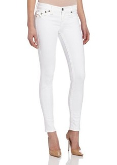 True Religion Women's Serena Legging Jean in Optic White