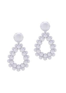 Bead droplet statement earrings