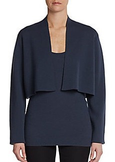 Donna Karan Cropped Open-Front Jacket