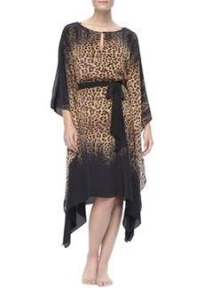 Leopard-Print Knee-Length Caftan   Leopard-Print Knee-Length Caftan