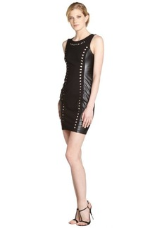 A.B.S. by Allen Schwartz black sleeveless cutout faux leather dress