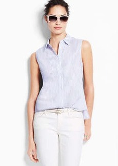 Striped Perfect Stretch Cotton Sleeveless Shirt