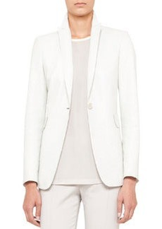 Akris punto Long Perforated Leather Jacket