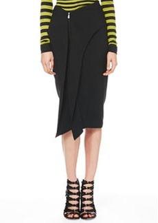 Jason Wu Cascade-Front Zip Skirt