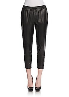 Robert Rodriguez Leather Track Pants