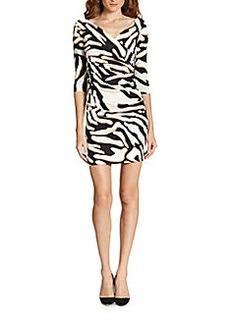 Diane von Furstenberg Bentley Zebra-Print Dress