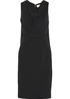 Badgley Mischka Cutout crepe dress