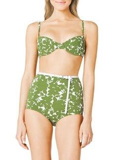 Floral-Print Bra-Top Bikini   Floral-Print Bra-Top Bikini