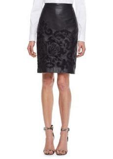 Escada Brocade Skirt, Black