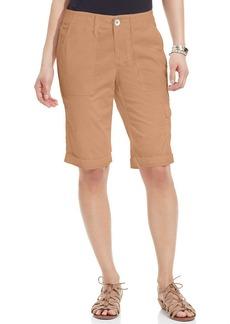 DKNY Jeans Cuffed Bermuda Cargo Shorts