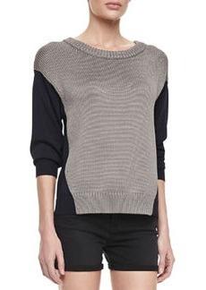 J Brand Ready to Wear Kira Two-Tone Combo Sweater