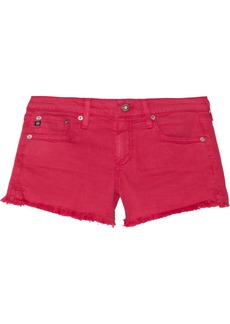 AG Jeans Mary Jane cut-off stretch-denim shorts
