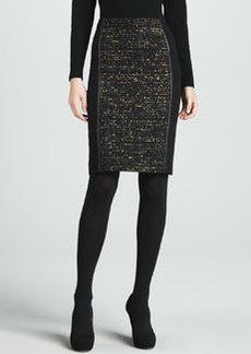 Lafayette 148 New York Christina Tweed-Panel Skirt