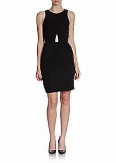 ABS Sheer-Back Dress