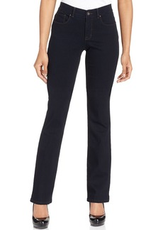 Style&co. Petite Jeans, Bootcut-Leg Tummy-Control, Rinse Wash