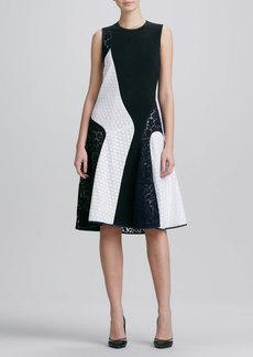 Derek Lam Sleeveless Colorblock Lace Combo Dress