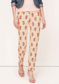 Tall Paisley Print Ankle Pants in Marisa Fit