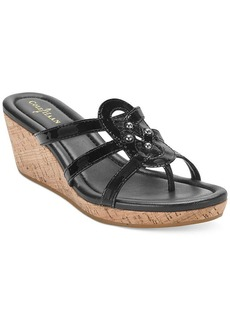 Cole Haan Women's Shayla Platform Wedge Thong Sandals