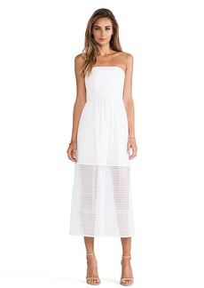 Tibi Kat Eyelet Dress in White