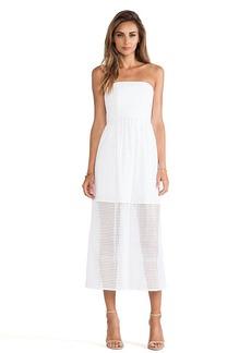 Tibi Kat Eyelet Dress in White