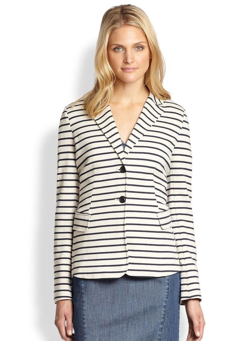 max mara weekend maxmara striped jersey blazer blazers. Black Bedroom Furniture Sets. Home Design Ideas