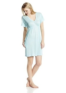 Hanro Women's Pilar Short Sleeve Gown