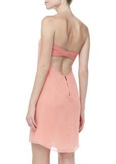 Alice + Olivia Jazz Strapless Chiffon Dress